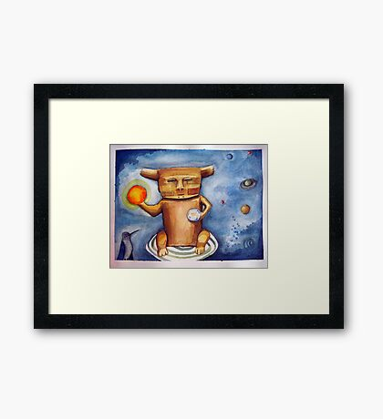 lost in the cosmos of creation  Framed Print
