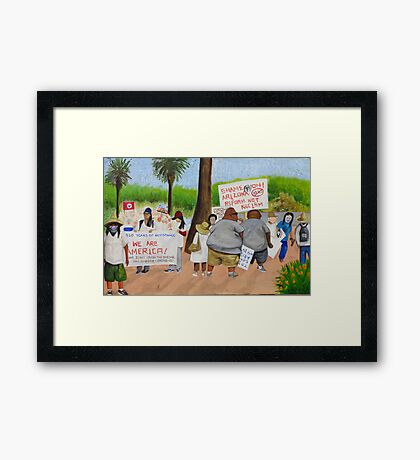 People coming together in  Arizona Framed Print