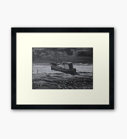 Estuary Boat - Burnham-on-Sea Framed Print