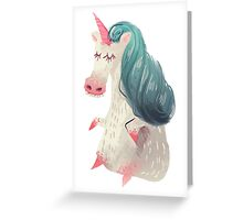 Unicorn Pony Greeting Card