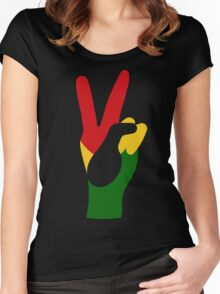 PEACE2RASTA Women's Fitted Scoop T-Shirt