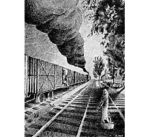 Fingerprint - Train - Black ink Photographic Print
