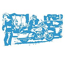 Biker in the Alley VRS2 Photographic Print
