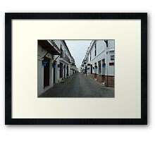 Crowded streets. Framed Print