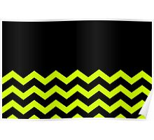 Beautiful Cushions/Chevron/ Black Yellow Poster