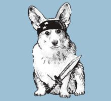 BAD dog – corgi carrying a knife T-Shirt