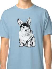 BAD dog – corgi carrying a knife Classic T-Shirt