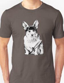 BAD dog – corgi carrying a knife Unisex T-Shirt