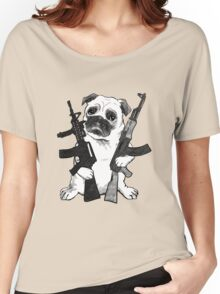BAD dog – armed pug Women's Relaxed Fit T-Shirt