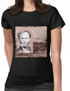 General Sherman on the Offensive Womens Fitted T-Shirt