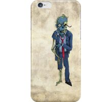 Zombie in a suit iPhone Case/Skin