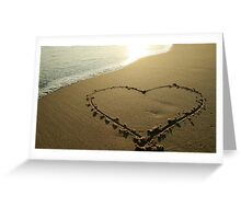 Love on the beach Greeting Card