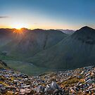 Lingmell Sunset Panoramic by James Grant