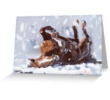 Horse-  snowflake fun Greeting Card
