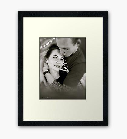 Kiss me ! I am your man...... Framed Print