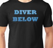 Scuba Diver Below with bubbles Unisex T-Shirt
