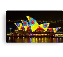 Star Sails - Sydney Vivid Festival - Sydney Opera House Canvas Print