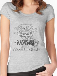 Veronica Mars- Marshmellow Women's Fitted Scoop T-Shirt