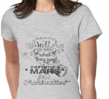 Veronica Mars- Marshmellow Womens Fitted T-Shirt