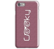 Geeky girl iPhone Case/Skin