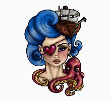 Nautical Octopus Pirate Girl T-Shirt