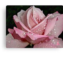 """Rainy Day Rose of Love"" Canvas Print"