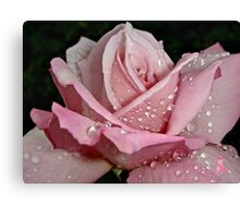 """Rainy Day Rose of Love"" Canvas Print"