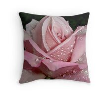 """""""Rainy Day Rose of Love"""" Throw Pillow"""