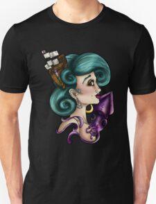Nautical Squid Pirate Girl T-Shirt