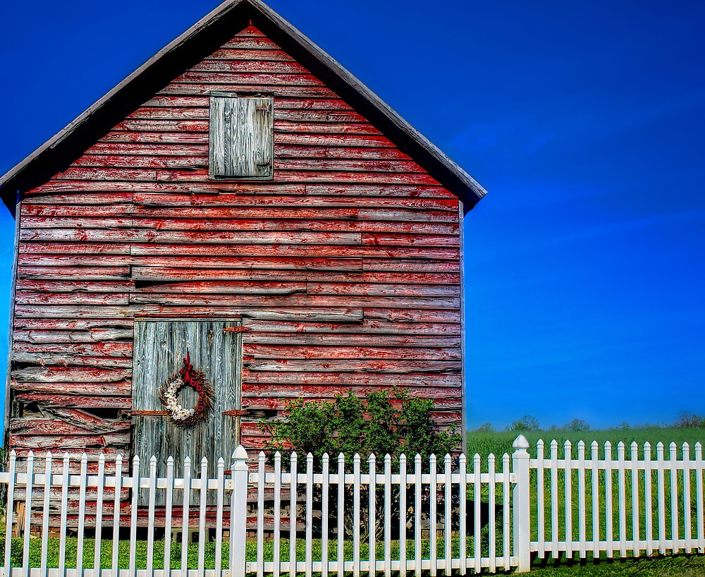 Red, White, and Blue Barn by Kyle Wilson