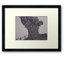 'Tree of reality' Framed Print
