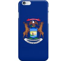 Smartphone Case - State Flag of Michigan - Horizontal iPhone Case/Skin