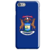 Smartphone Case - State Flag of Michigan - Horizontal iPhone Case/Skin