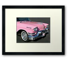 """""""Pink Cadillac For The Cure"""" Framed Print"""