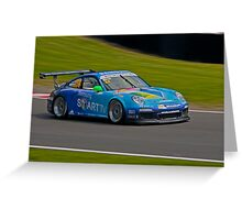Porsche cup challenge. Greeting Card