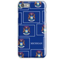 Smartphone Case - State Flag of Michigan - Horizontal III iPhone Case/Skin