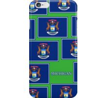 Smartphone Case - State Flag of Michigan - Horizontal V iPhone Case/Skin