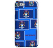 Smartphone Case - State Flag of Michigan - Horizontal VII iPhone Case/Skin