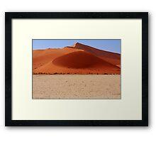 Sand Dune Curves Framed Print