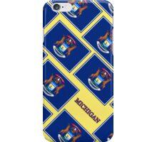 Smartphone Case - State Flag of Michigan - Diagonal V iPhone Case/Skin