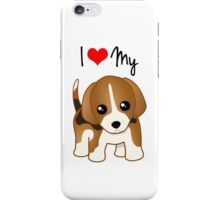 Cute Little Beagle Puppy Dog iPhone Case/Skin
