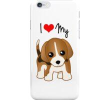Cute Little Beagle Puppy Dog iPhone Case/Skin