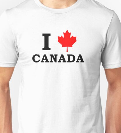 I Love Canada  Unisex T-Shirt