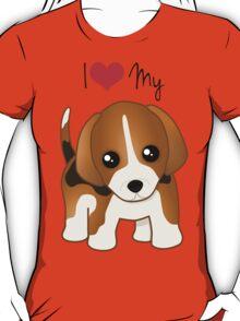 Cute Little Beagle Puppy Dog T-Shirt