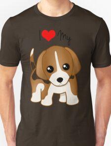 Cute Little Beagle Puppy Dog Unisex T-Shirt