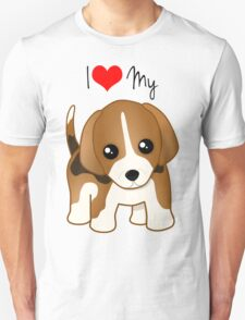 Cute Little Beagle Puppy Dog Unisex T-Shirt