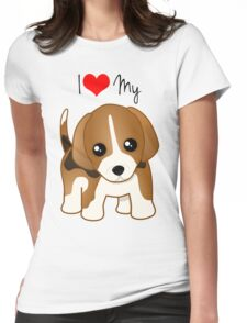 Cute Little Beagle Puppy Dog Womens Fitted T-Shirt