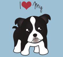 Cute Little Boston Terrier Puppy Dog Kids Clothes