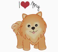 Cute Little Pomeranian Puppy Dog Kids Tee