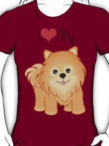 Cute Little Pomeranian Puppy Dog T-Shirt